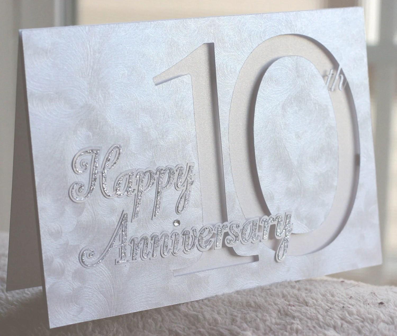 Happy 10th Anniversary Card custom year available