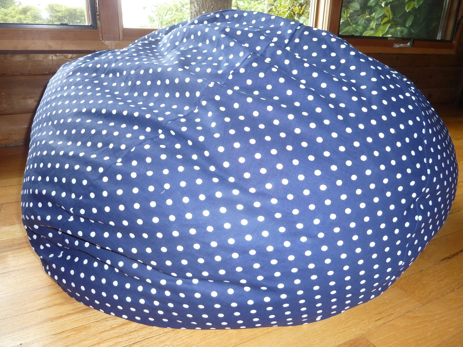 Bean Bag Chair Cover Navy Blue With White Polka Dot Bean Bag Chair Cover