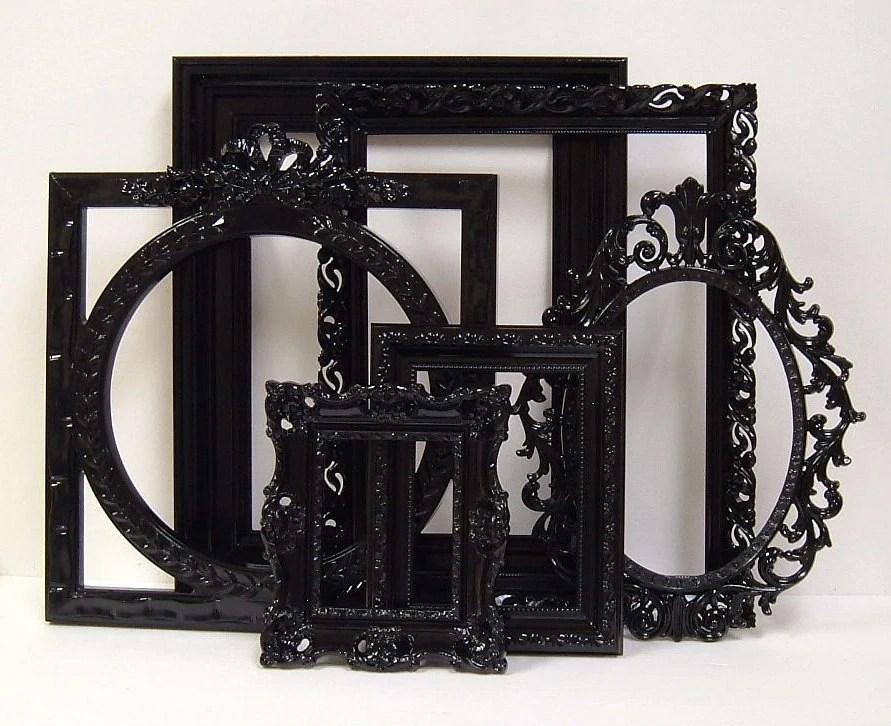 Picture Frames Black Shabby Chic Frames Set Ornate Frames