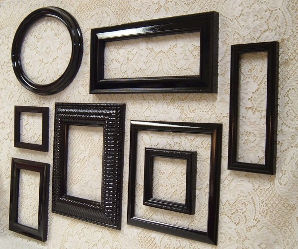 Frames Black Frame Set Wall Collection Mid