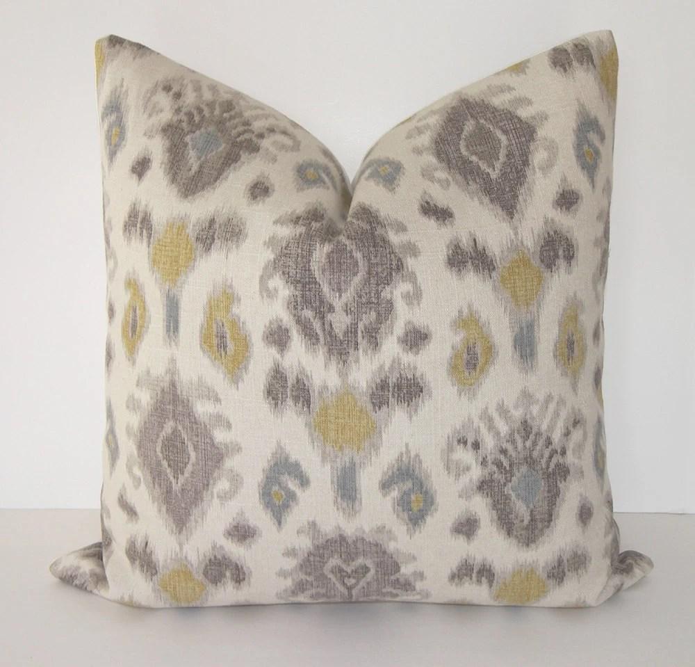 Items similar to Euro Sham  Decorative Designer Ikat