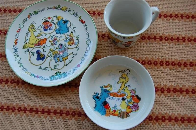 Vintage Sesame Street Dinnerware circa 1976 Gorham Fine China