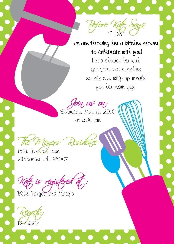 Kitchen Tea Invites