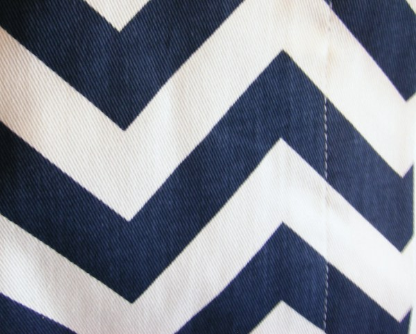 Navy Blue and White Chevron Shower Curtain