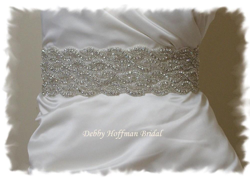 Wedding Dress Sash Beaded Crystal Bridal Belt Rhinestone