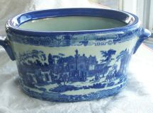 Now 20% OFF: Victoria Ware blue handled ironstone foot bath
