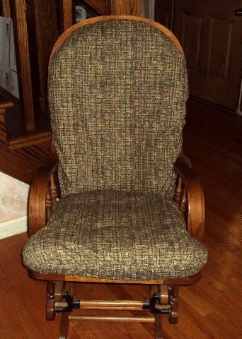 SlipCovers for your Glider Rocker Rocking Chair Cushion Retro