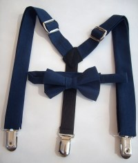 SALE bow tie and suspenders for toddler boy navy by golubchick