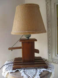 rustic water pump replica lamp wooden with by rivertownvintage