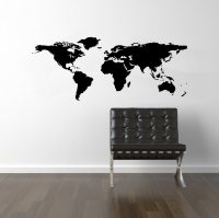 World Map Wall Decal World Map Decal World Decal by DecalLab