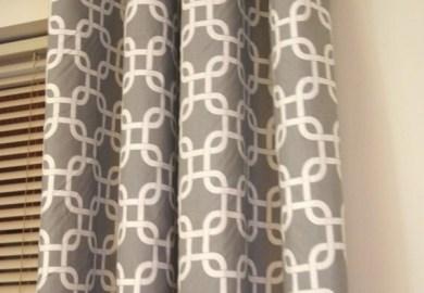 Grey Trellis Curtains