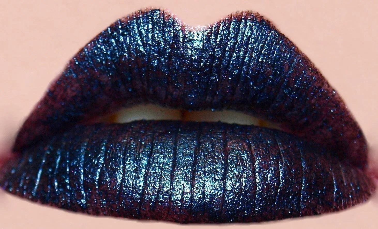 Dark Navy Blue Lipstick Halloween All by ProvidenceAndGrace