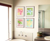 Bathroom art bathroom prints. Kids bathroom children art.