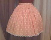 Pink and White Polkadot Lolita Skirt