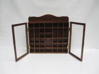 Mid Century Display Case Wood and Glass by LoveButlerVintage
