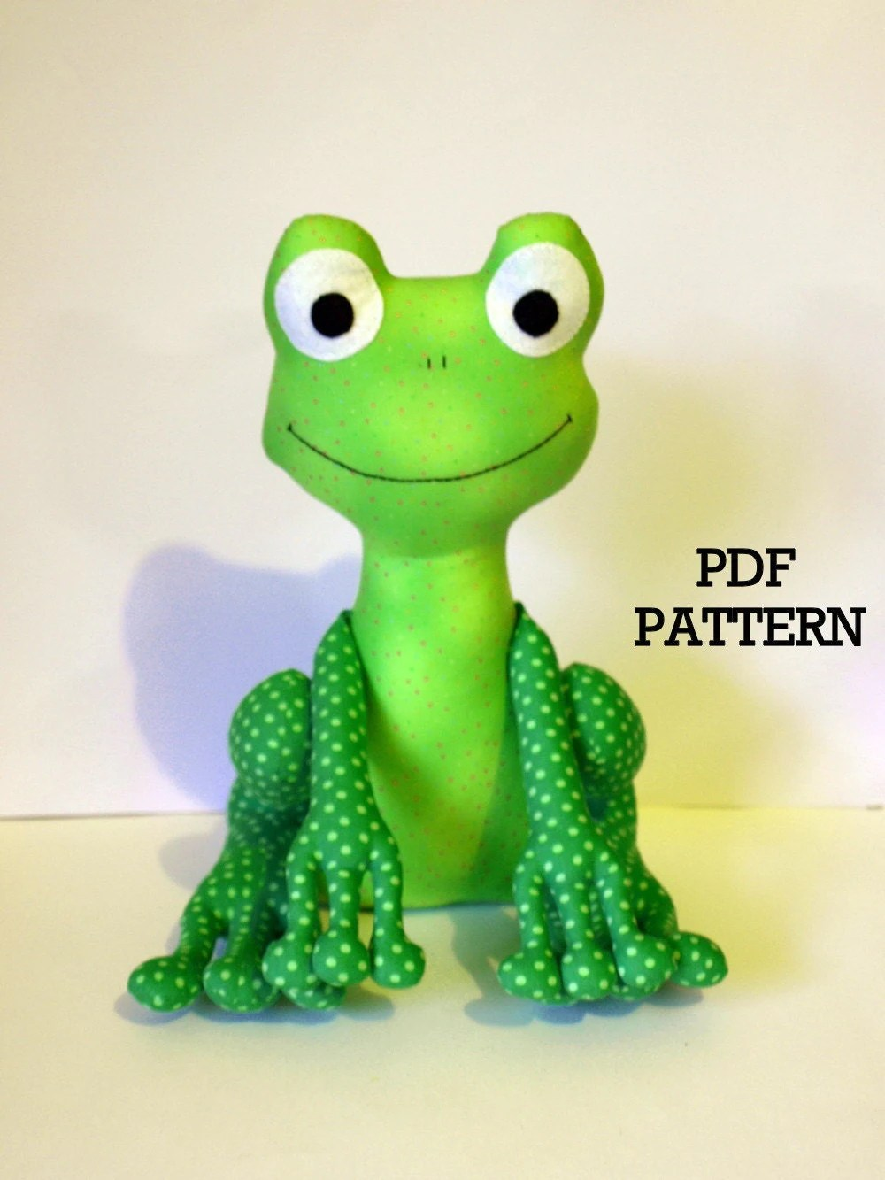 Frog PDF Sewing Pattern soft toy Direct Download by