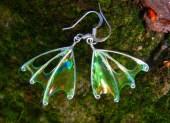 """Forest Faerie Wings, Fern Fairy Earrings, Green Wing Earrings, unique silver earrings, """"Fern"""" - TheSilverBranch"""