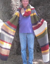 Dr. Who Inspired 12 Feet Long Hand Knitted Scarf Custom