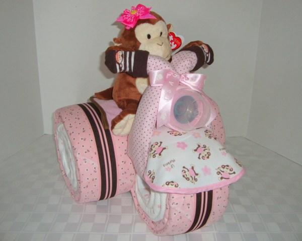 Baby Monkey Cake Safari Tricycle Trike Diaper