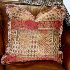 Fabric Accent Chairs Living Room Design 2018 Philippines Throw Pillow Decorative Tuscan Old World Euro 24 In Brush