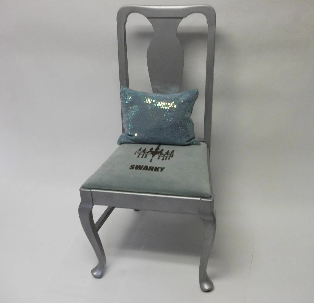 Mint Accent Chair Sale Swanky Cabriole Legged Mint Green And Silver Accent Chair