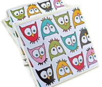 Items similar to Fun and Funky Owls Handmade Tile Coasters ...