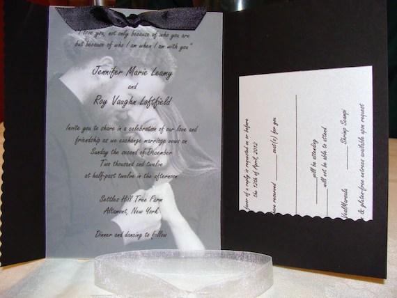 Items similar to Pocketfold Wedding Invitation with