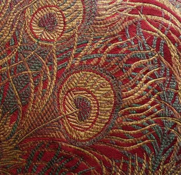 upholstering a chair barcelona lounge peacock tapestry upholstery fabric 5-1/8 yards 55 by atelierno22
