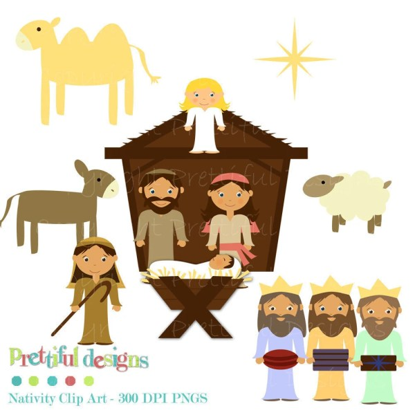christmas nativity clip art personal
