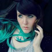 ombre turquoise teal mermaid hair