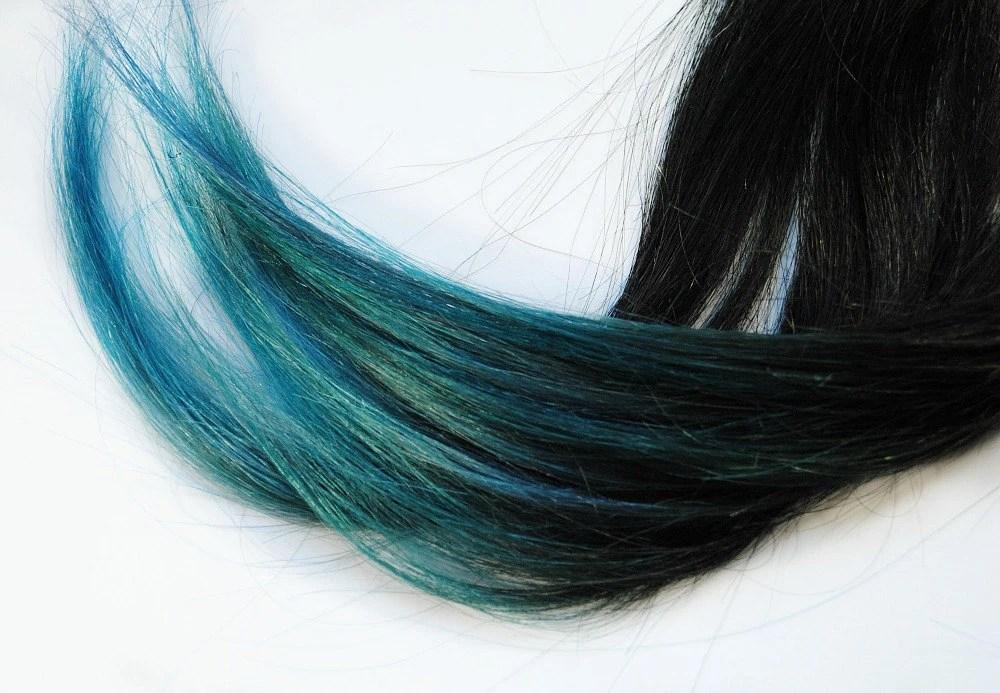 Dark Oceans Human Hair Extensions Dip Dyed Tips Tie Dyed