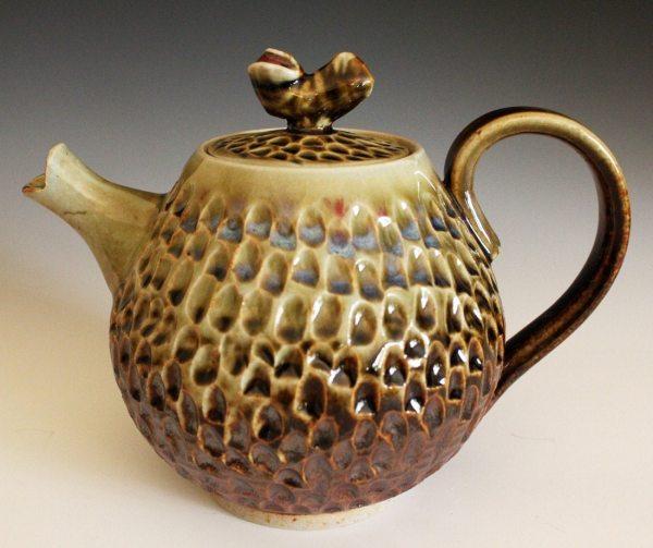 Aina Teapot Handmade Porcelain Holds 28oz Ocpottery