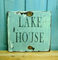 LAKE HOUSE Sign Beach House Wall Art Decor by CastawaysHall