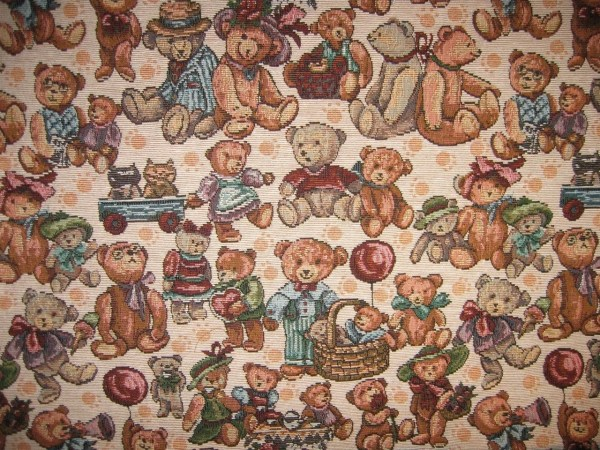 Tapestry Fabric Victorian Teddy Bears 2 Yards Pasticcioinc94