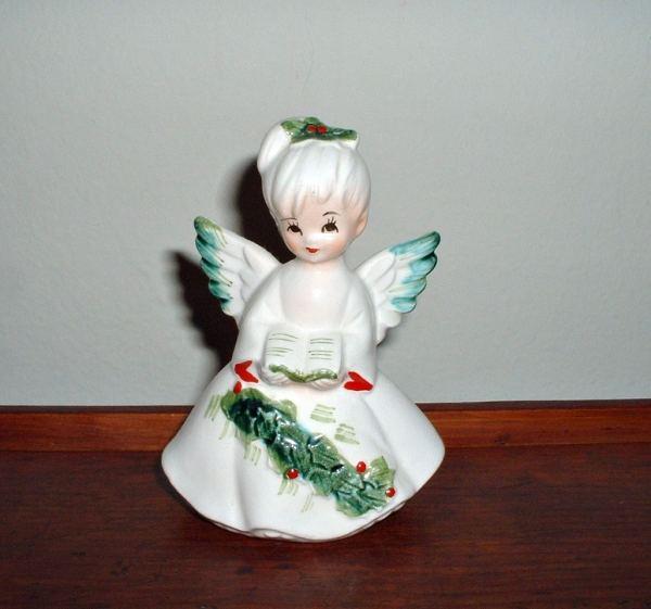 Vintage Lefton Christmas Angel Figurine Caroler