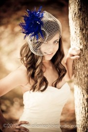 royal blue feather fascinator