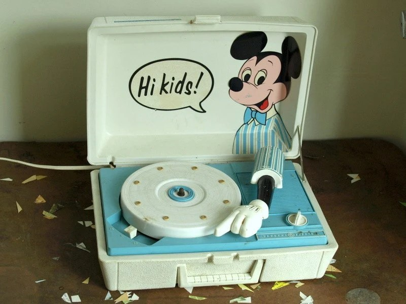 Spring Sale Vintage Mickey Mouse Record By