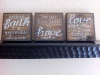 Scripture Art Home Decor Wall Art Faith.Hope.Love SET