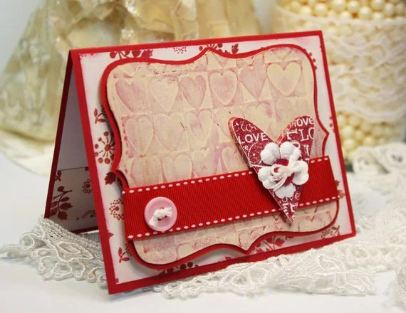 Valentines Card Handmade Card Greeting Card YOU Amp ME
