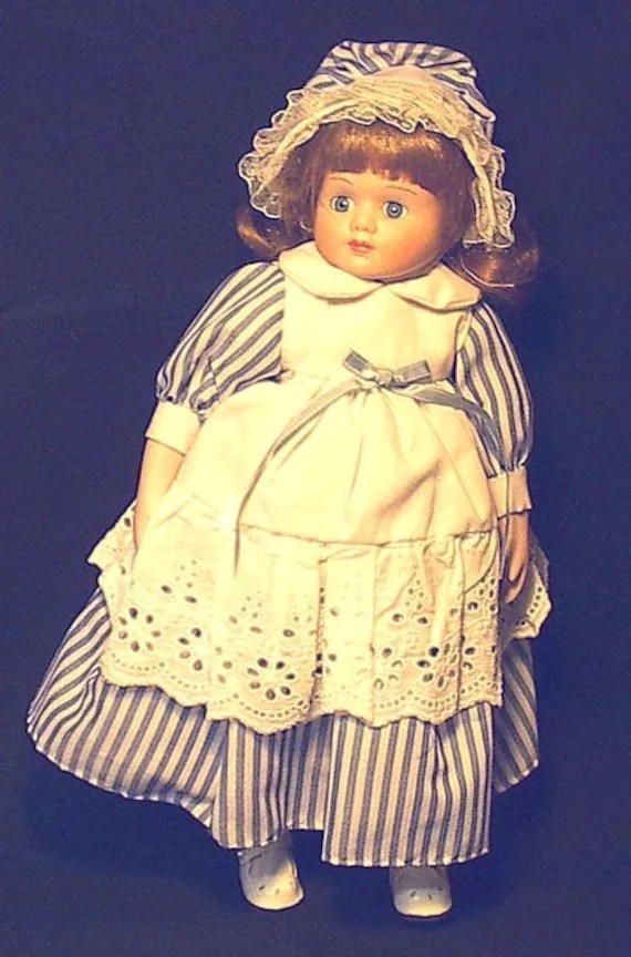 Items similar to 16 inch Porcelain UNKNOWN BRAND GIRL Doll LOOK  104B on Etsy