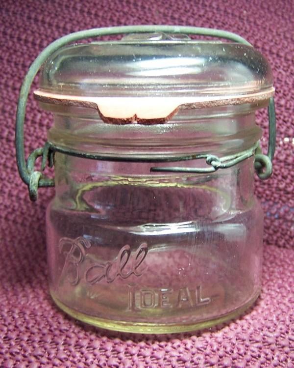 Ball Ideal Pint Clear Glass Bail Top Canning Jar Tomsbarn