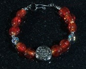Fiery Glass Bead Bracelet - BlackMagicStudio