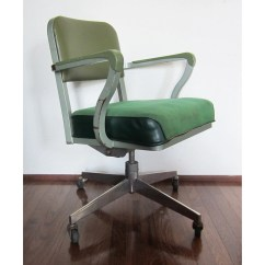 Steelcase Vintage Chair Poang Cover From Ikea Green Rolling Computer Office