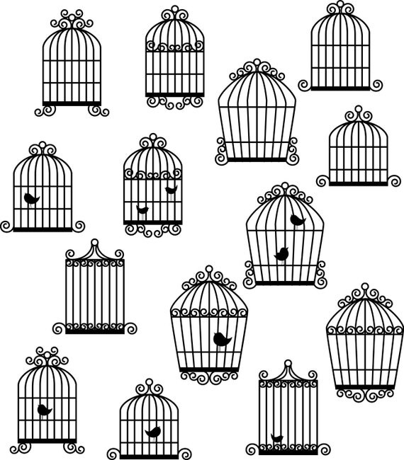 Birdcages Photoshop Brushes Birdcages Silhouettes
