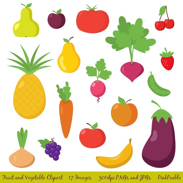 fruit and vegetable clipart clip