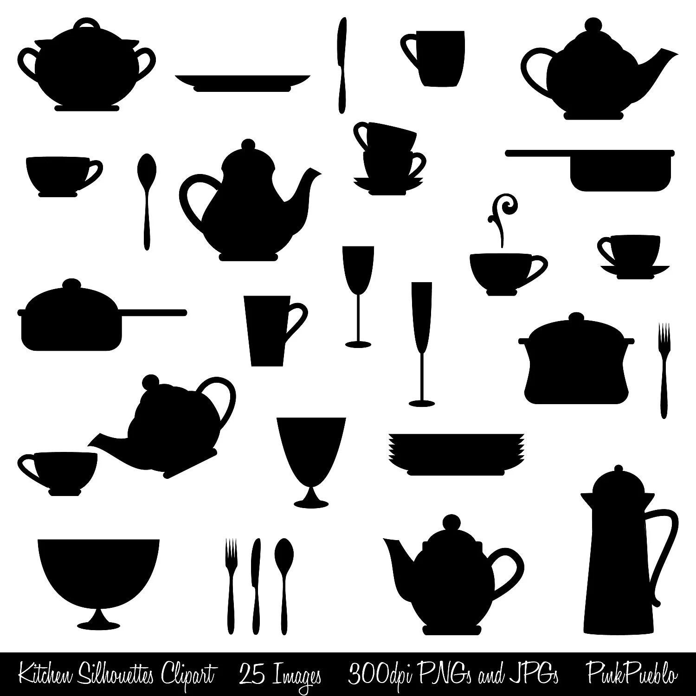 Kitchen Silhouettes Clipart Clip Art Cooking Clipart Clip Art