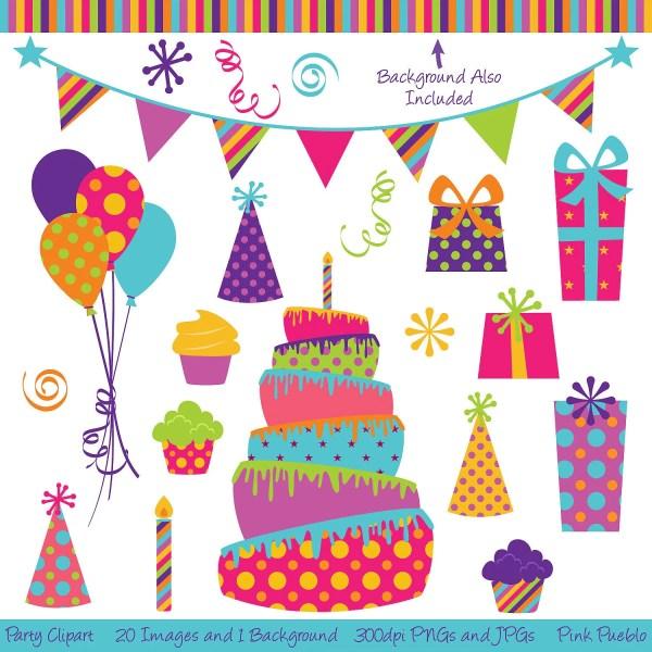 party clipart clip art birthday