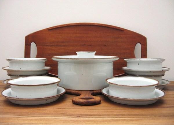Dansk Generation Brown Mist Plate Bowl And Casserole Set