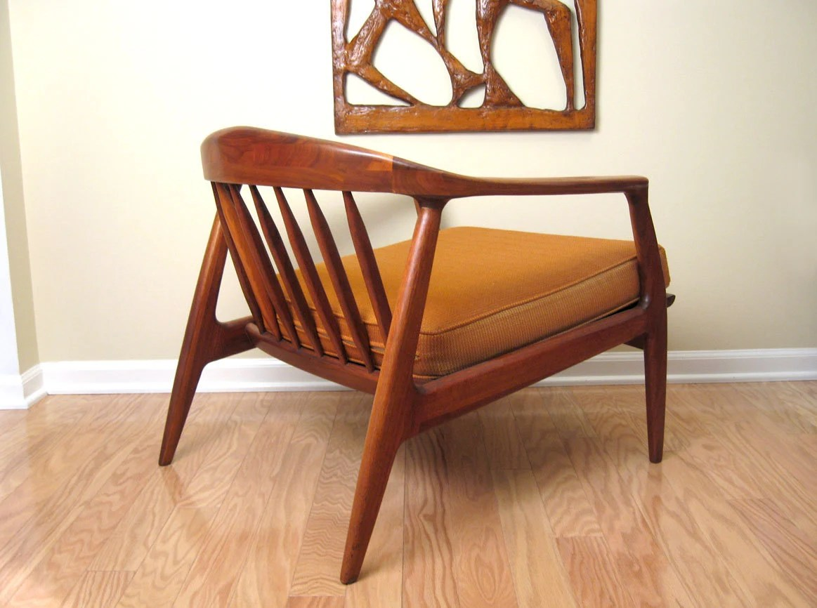 milo baughman chair crate and barrel lowe danish modern walnut lounge for thayer