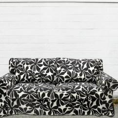 Black And White Checkered Sofa Bed Normann Copenhagen Sofabord Brugt Custom Ikea Ektorp Sleeper Slipcover In Bold